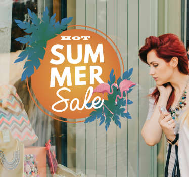 Raamsticker hot summer sale
