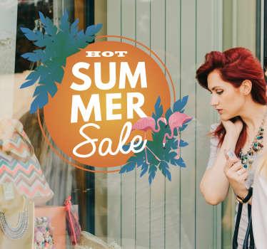 Rabatt Aufkleber Summer Sale Sommerschlussverkauf Schild