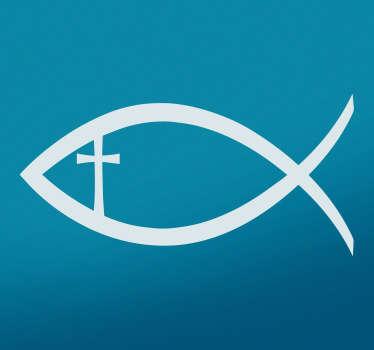 Vinil decorativo peixe cristão