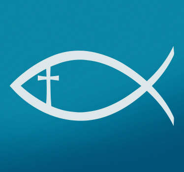 Sticker animal poisson chrétien