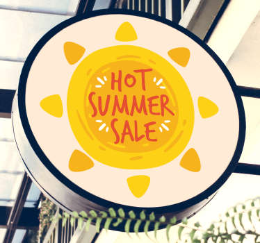 Breng de zomer in de winkel met etalage sticker. Met deze raamsticker krijgt de zome sale extra effect! Sticker summer sale! Raamsticker zomer sale!