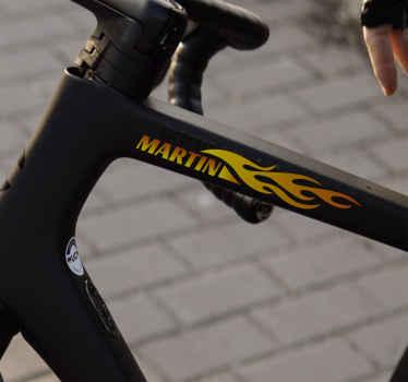 Personalisierter Namensaufkleber für Fahrräder