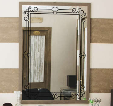Square frame mirror decal to created nice define edge along a mirror surface for bathroom. Available in different colours and sizes.