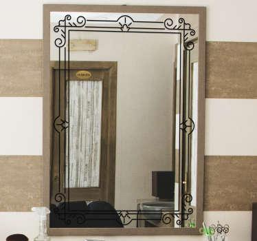 Vinilo espejo marco cuadrado