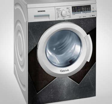 Autocolante máquina de lavar padrão metal