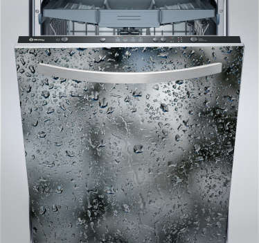 Vinil decorativo para lava louças gotas de água