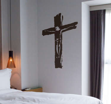 Adesivo decorativo da cruz de Cristo
