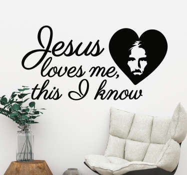 Jesus Loves Me Wall Sticker