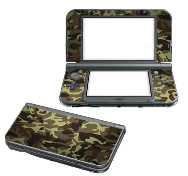 War Camouflage Nintendo Sticker