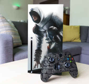 The Xbox Assassin's Creed skin for gamers who take on the Assassin´s journey. This stylish Xbox One skin is for gamers who are not afraid of the challenge that the game brings.