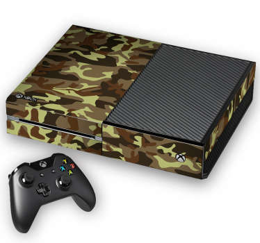 This Xbox skin is perfect for gamers who consider themselves to be battle ground warriors and quick with their hand. The camouflage Xbox skin gives you the fight and protection you need for when it´s time to go to war!