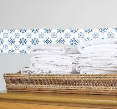 Tipiche piastrelle adesive portoghesi di colore azzurro che ricorda il Portogallo, sono perfetti come piastrelle adesive per il bagno o per la cucina