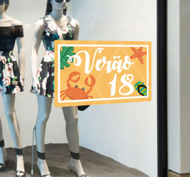 Shop front window sticker for summer sales. An ideal decoration for any business place to promote summer sales. It is available in different sizes.
