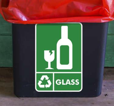 Recycle Glass Bin Sticker