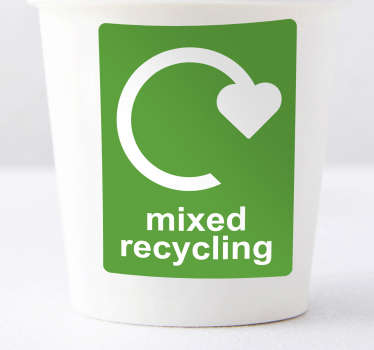 Mixed recycling sticker