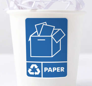 Recycle Paper Bin Sticker