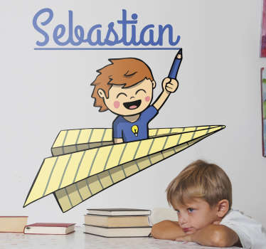 Custom School Kid´s Name Sticker