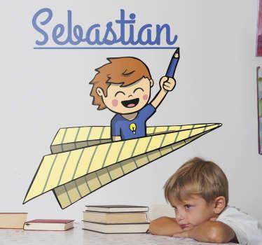 Sticker personnalisé écolier