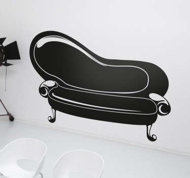 An elegant sticker with a classic design of a vintage sofa.