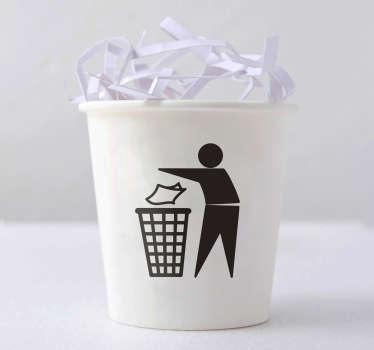 Autocolante para balde do lixo