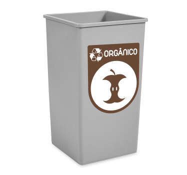Organic recycling iconic decal for containers to get organic rubbish in proper space. Easy to apply and available in any size you want.