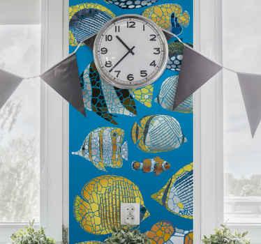 Naklejka na ścianę egzotyczne rybki