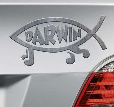 Naklejka na ścianę Darwin, tekstura odtwarzająca metal