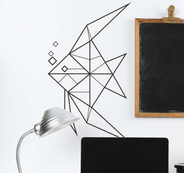 Naklejka na ścianę rybka geometryczna