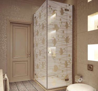 Autocolante para cabine de duche peixes