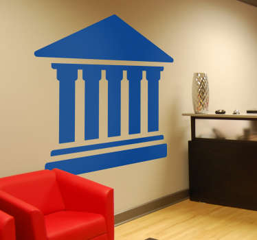 Wall Stickers for Office and Business Stickers - The courthouse symbol wall sticker is recognised throughout the world. Discounts available.
