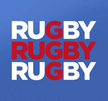 Rugby Wall Stickers - If you follow the England rugby team, show your support for them with this England rugby sticker. Sign up for 10% off.