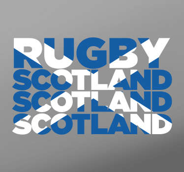 Rugby wall stickers- Show your support for the Scottish Ruby squad with this Scotland Rugby Sticker which resembles a Scotland flag. The Scotland flag sticker is a great children´s bedroom sticker to encourage their love for the sport and their national team.