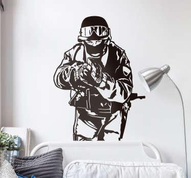 Silhouette sticker SWAT soldaat