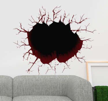 Naklejka na ścianę 3D dziura w ścianie