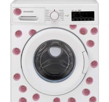 Vinilo para lavadora adorno floral