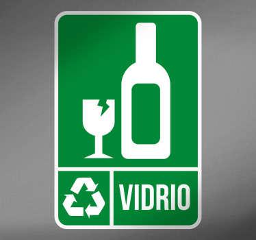 Adhesivos reciclaje vidrio