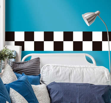 Add the chequered flag to your wall with this fantastic sticker! Stickers from £1.99.