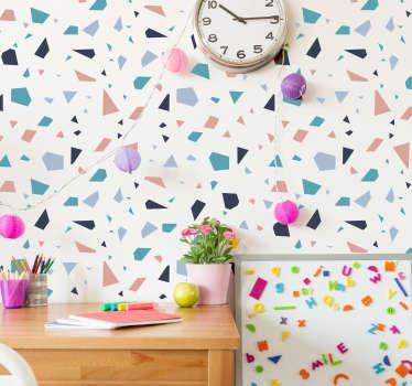 Naklejka na ścianę we wzory geometryczne