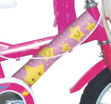 Rosa Fahrrad Aufkleber Sterne