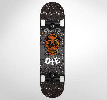 Wandtattoo Skateboard Old School