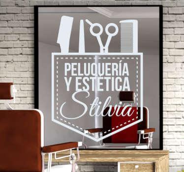Pegatinas personalizadas para decorar el escaparate o el interior de barberías, peluquerías y negocios de estética.