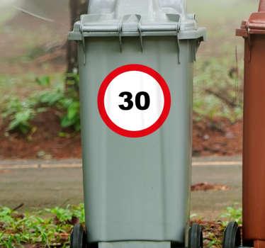Kliko sticker 30km waarschuwing bord