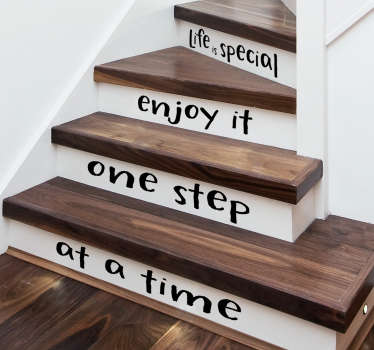 Decorate your stairs with a motivational quote thanks to this set of stair stickers! Choose your size.