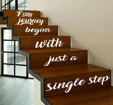Autocolantes textos escadas viagem