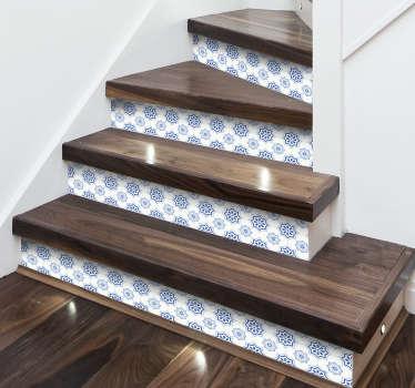 Bordüre selbstklebend Ornament Bordüre Treppe