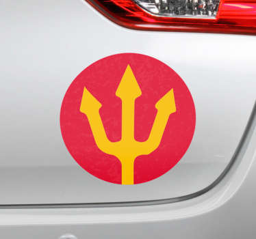 Red devils symbol car decal to decorate any flat surface. It is available in any required size. An adhesive and easy to apply.