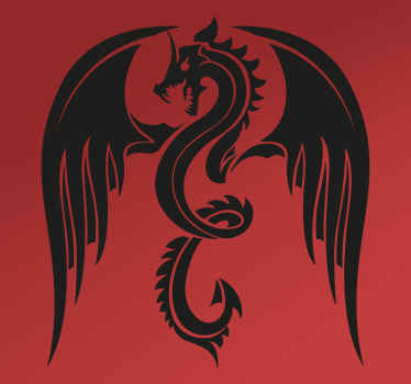 Add the mythical dragon to your car with this fantastic vehicle sticker! Zero residue upon removal. Available in 50 colours.