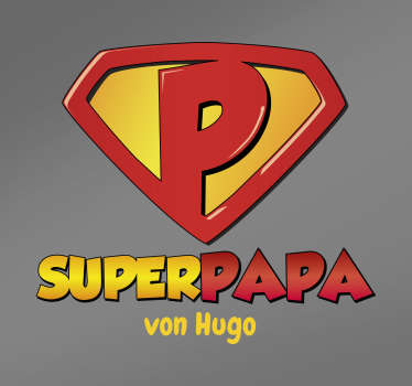 Autoaufkleber Superpapa personalisiert