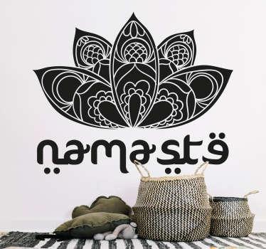 Lotus Namaste Wandaufkleber