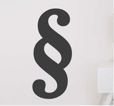 Wandtattoo Paragraph Logo